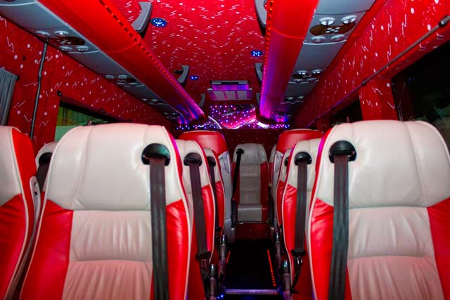 Take a look inside Elite Limousines Luxury Minibus